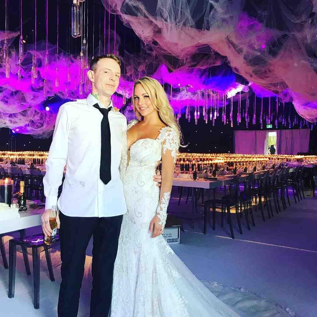 Deadmau5 Wedding Photo with Wife