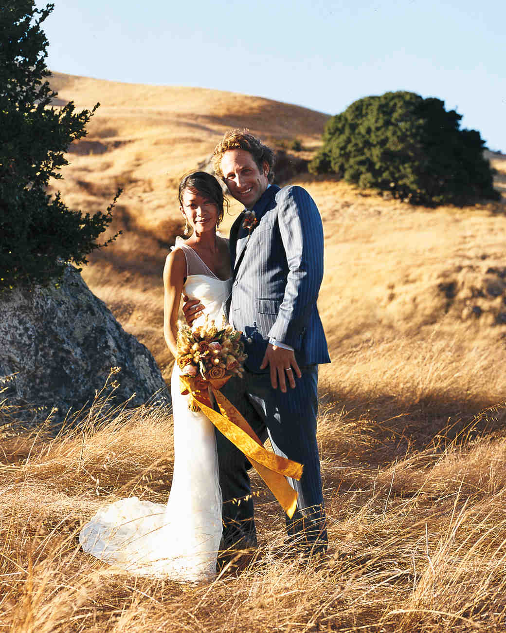 A Formal Autumnal-Themed Wedding Outdoors In California