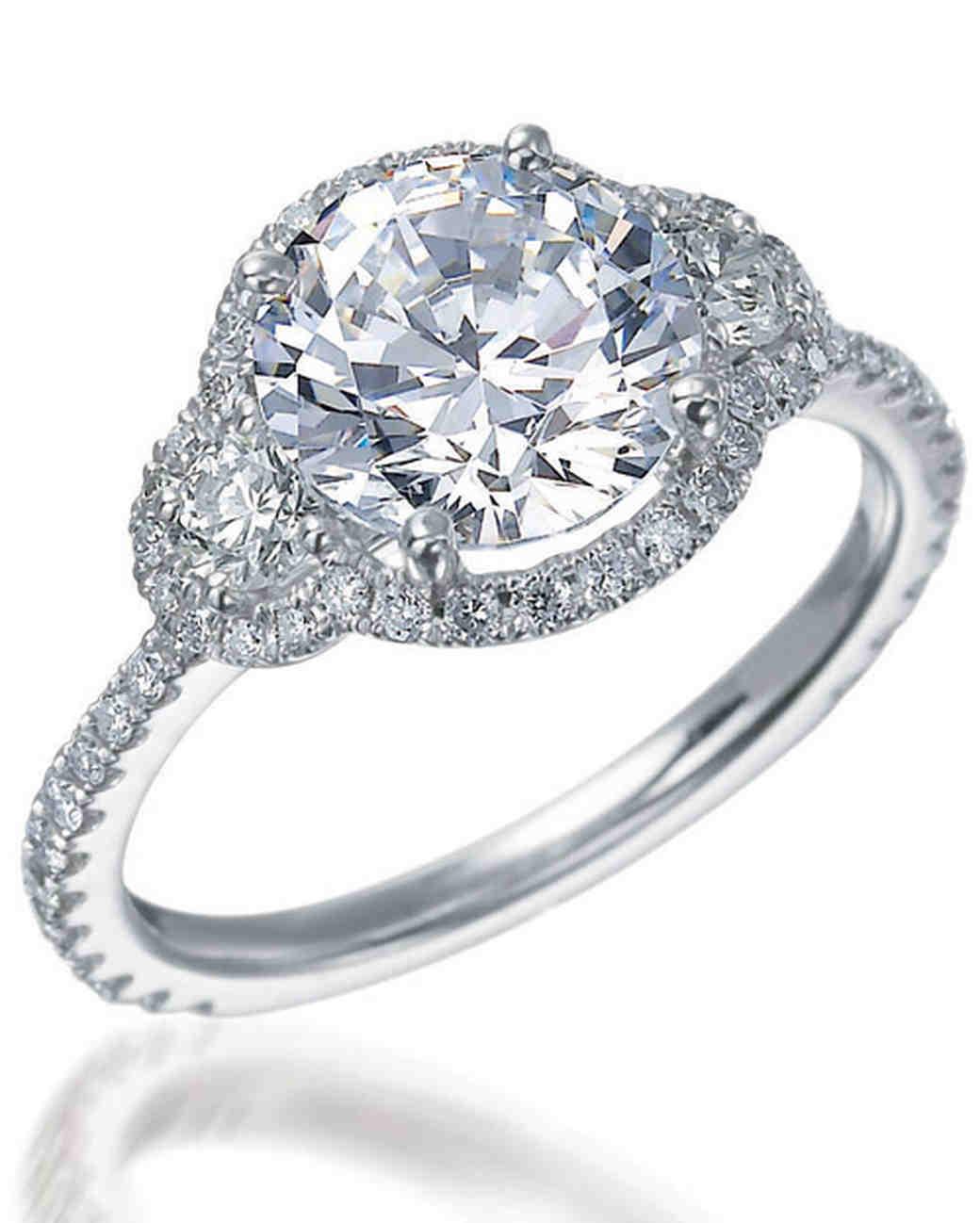 Round-Cut Diamond Engagement Rings | Martha Stewart Weddings