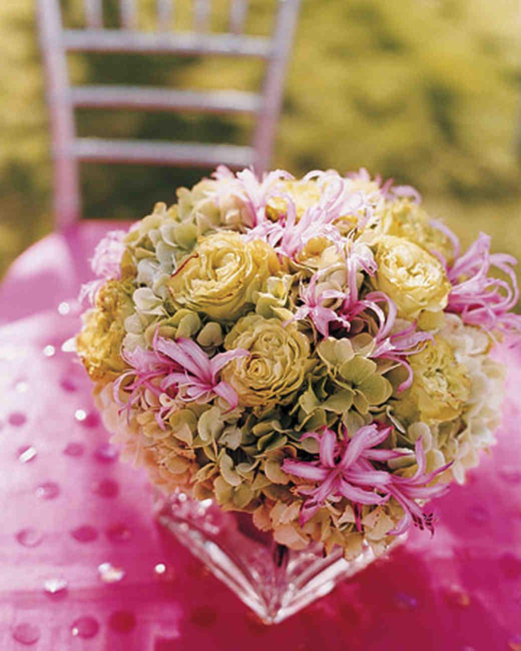 Pink Flower Centerpieces For Weddings: Hydrangea Wedding Centerpieces