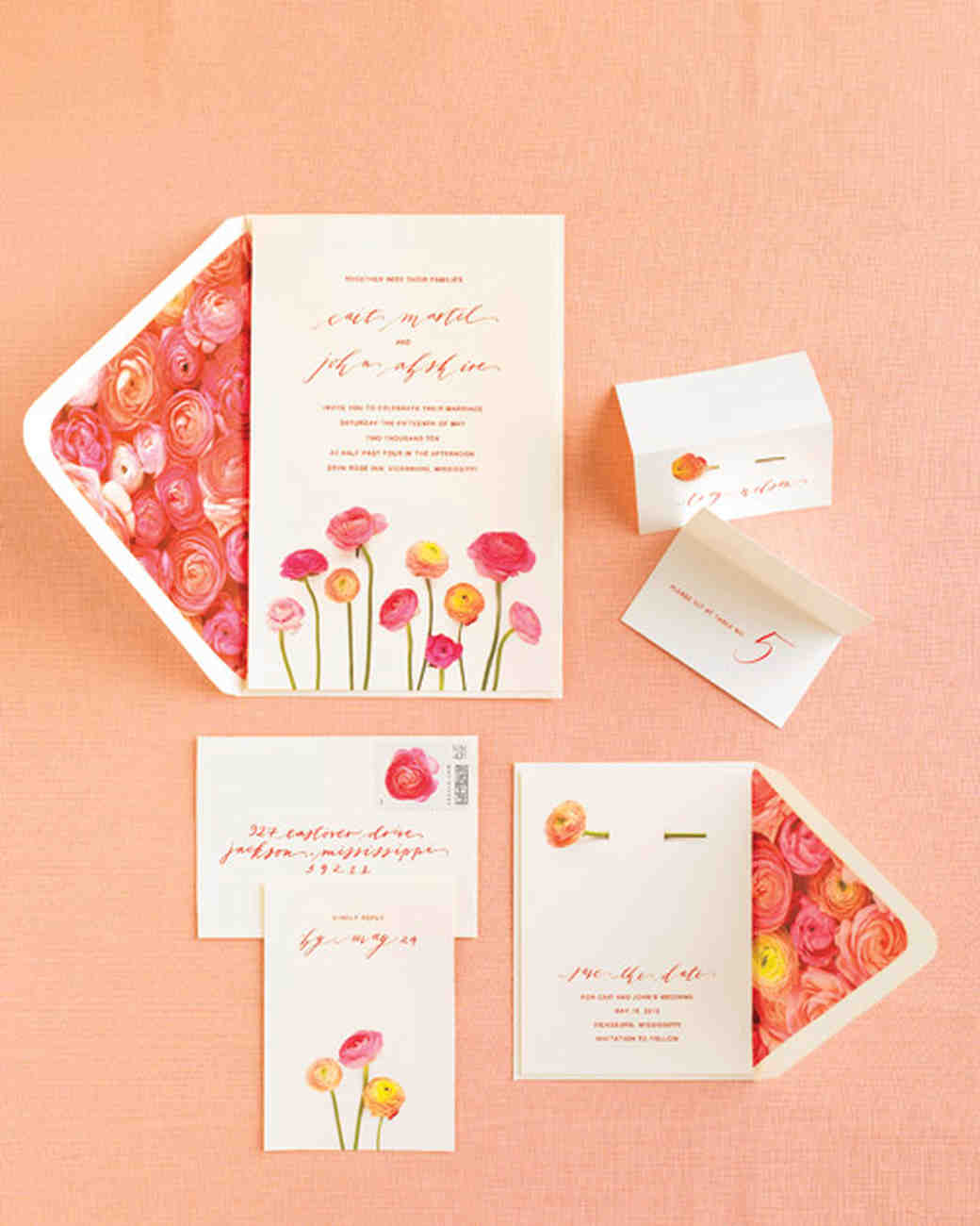 Perfect Blooming Invitation Suite