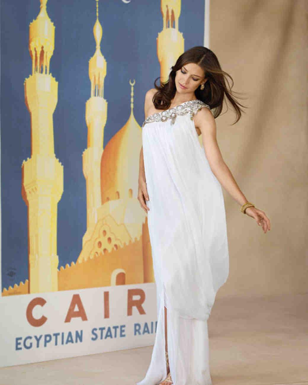 Вечернее платье египетского стиля