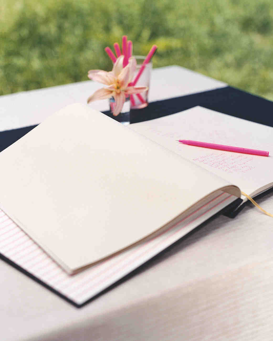 Pink Ink Guest Book