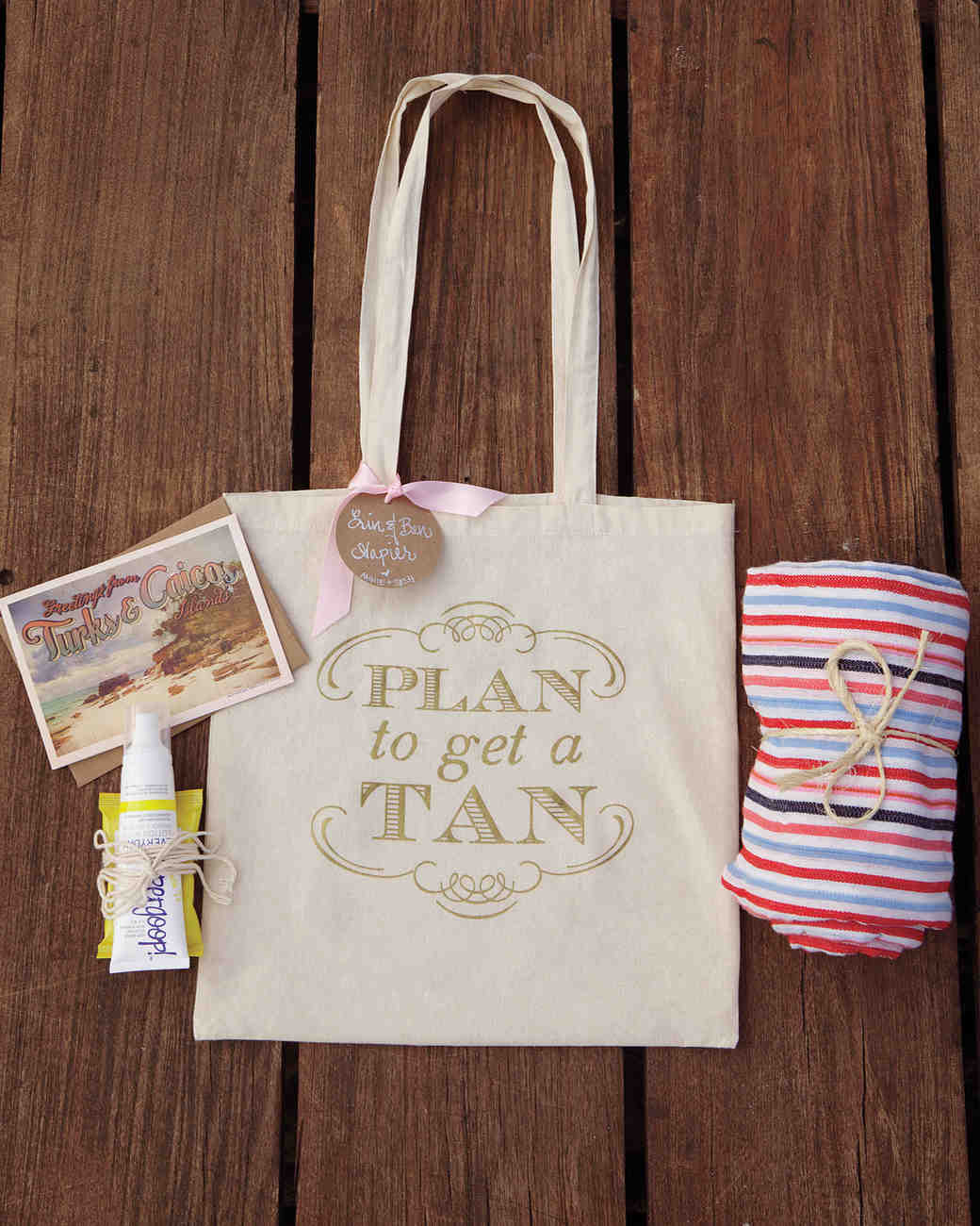 beach wedding welcome bags