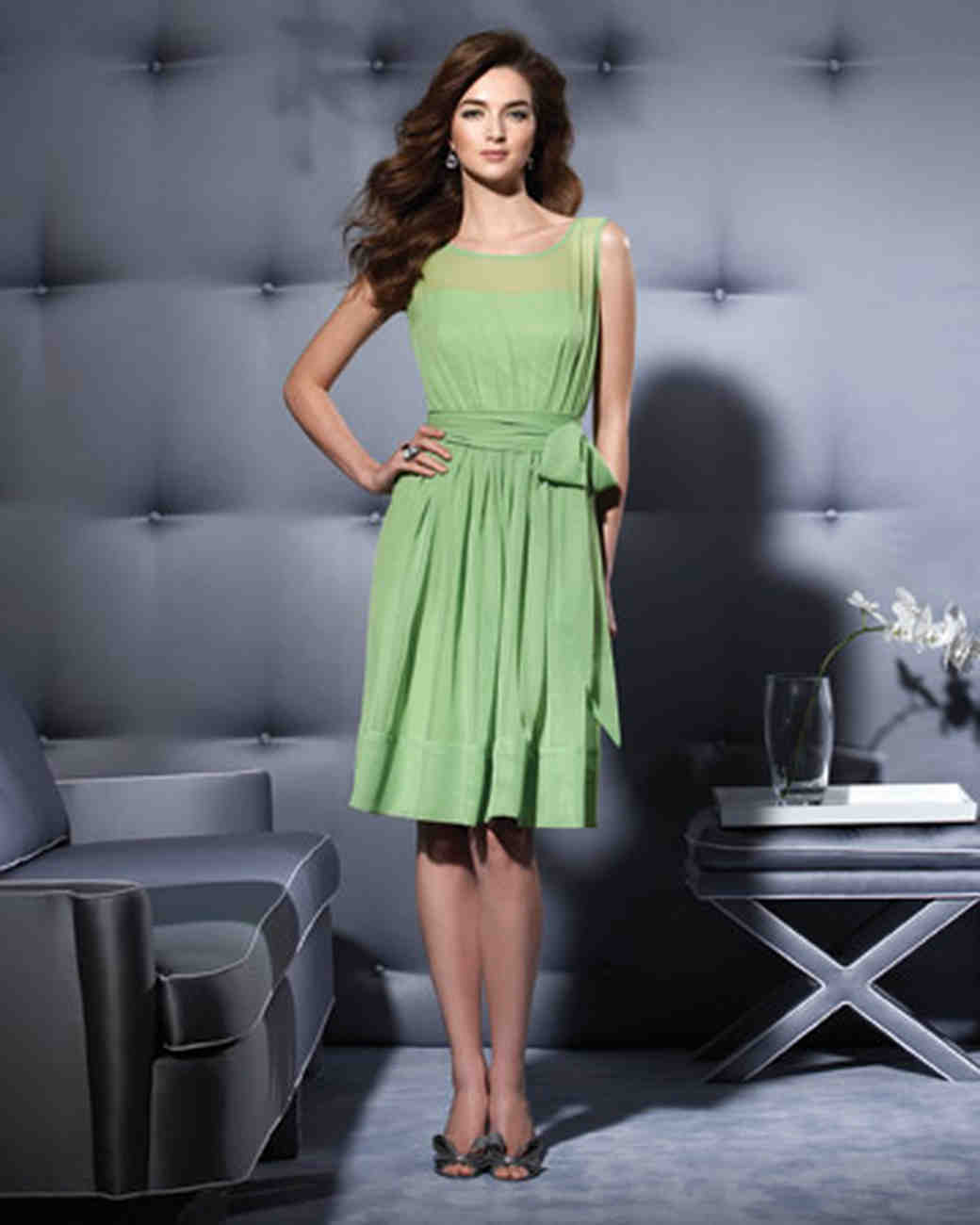Blue And Green Bridesmaid Dresses