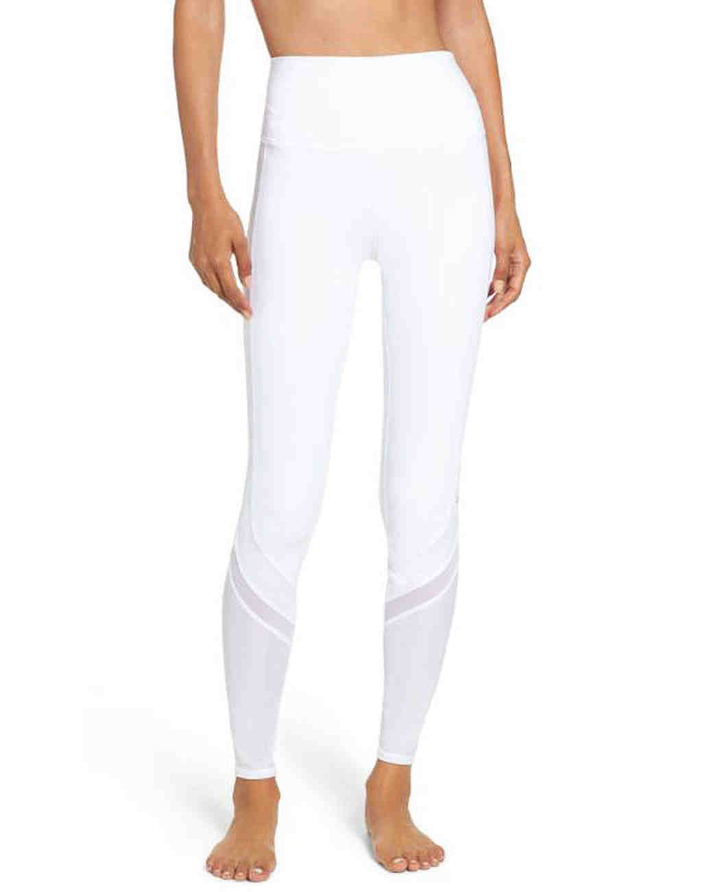 white workout pants