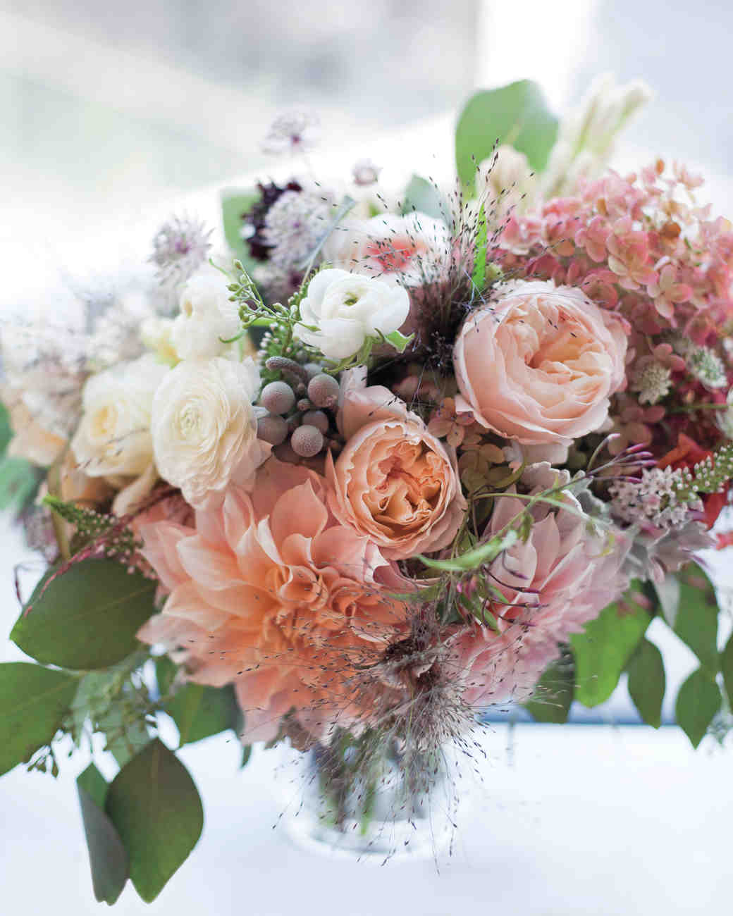 Mauve and Blush Wedding Bouquet