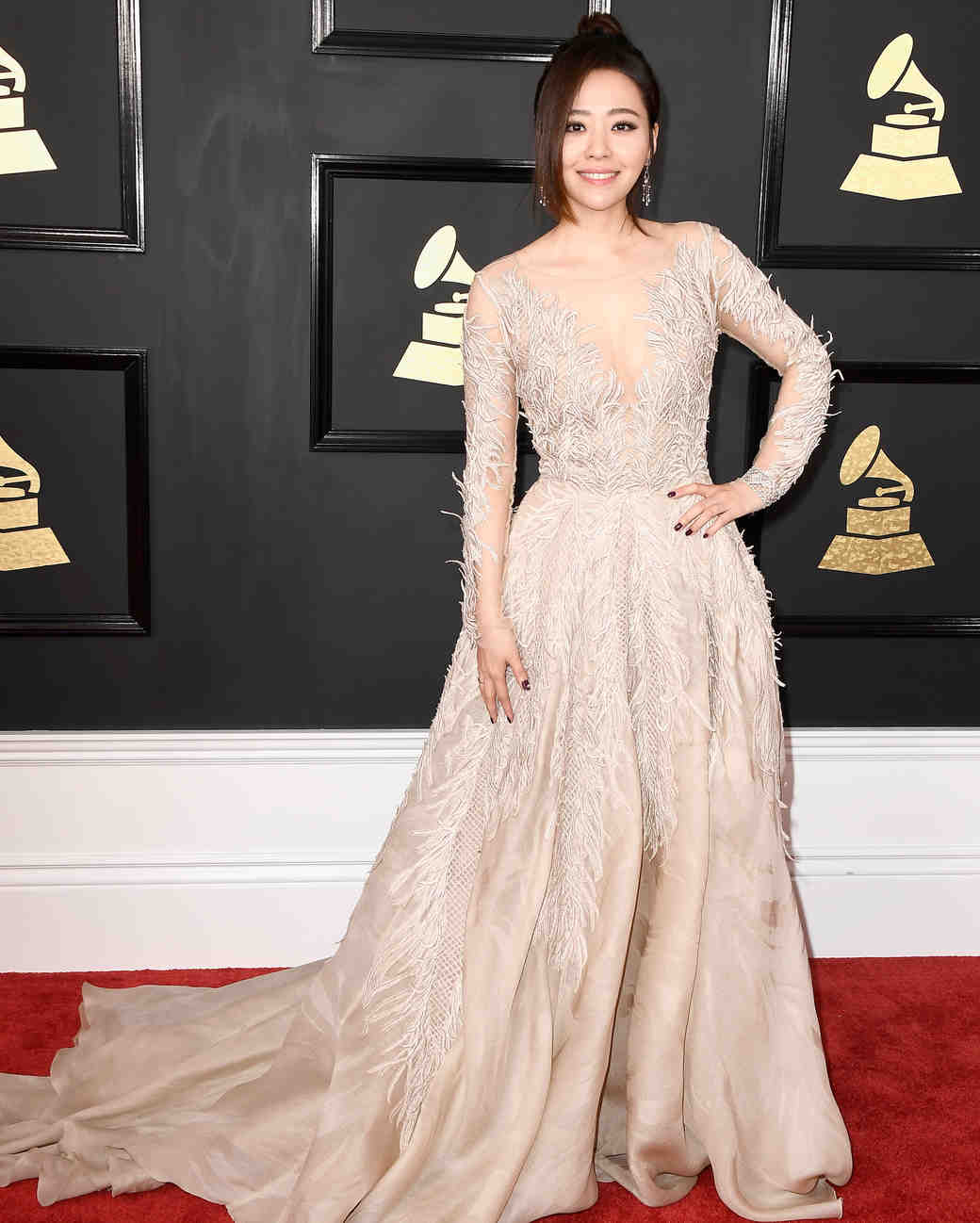 Jane Zheng at 2017 Grammy Awards