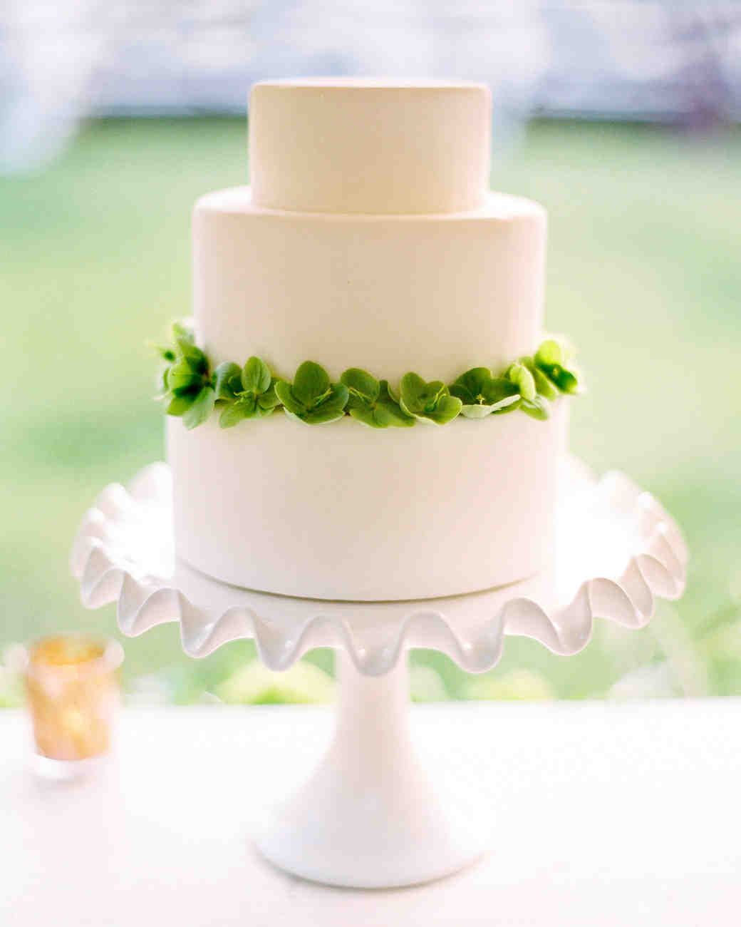 Wedding Cake with Helleborus Blossoms
