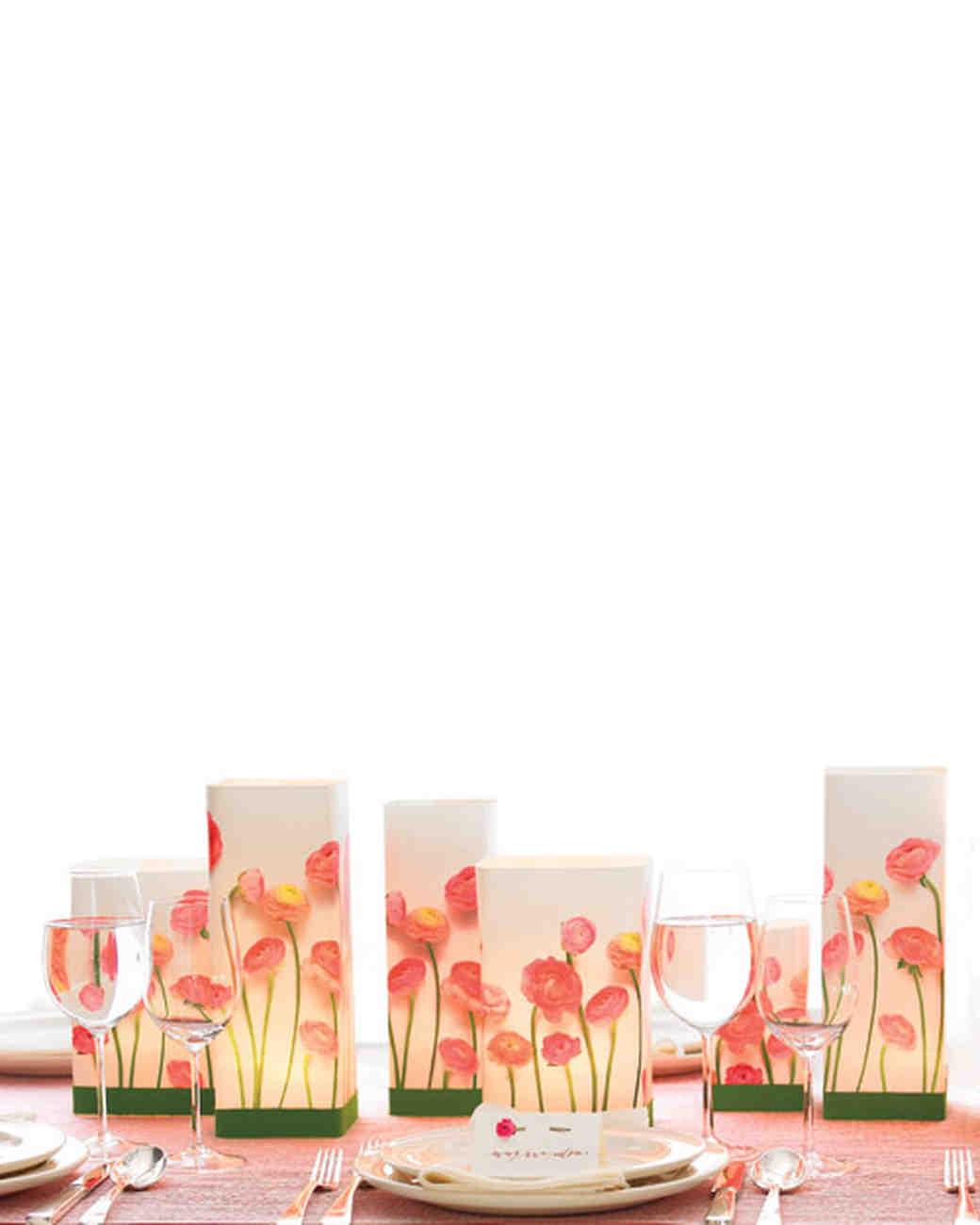 Floral Luminaria Centerpiece