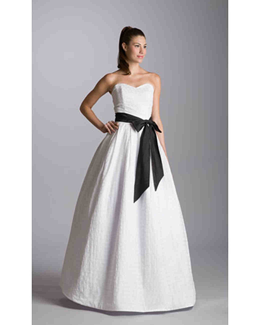 Wedding Dresses With Black Accents: Black and white wedding gown ...