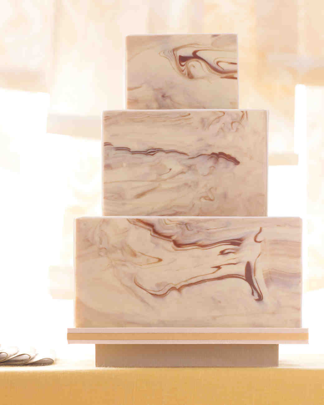 Marbled Chocolate Wedding Cake