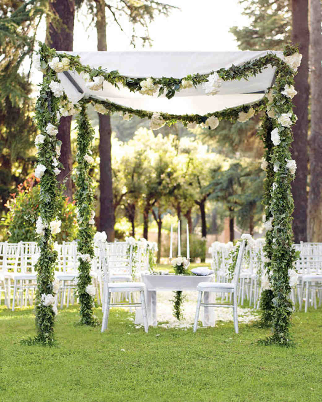Outdoor Wedding Ceremony: A Romantic Outdoor Destination Wedding In Rome, Italy