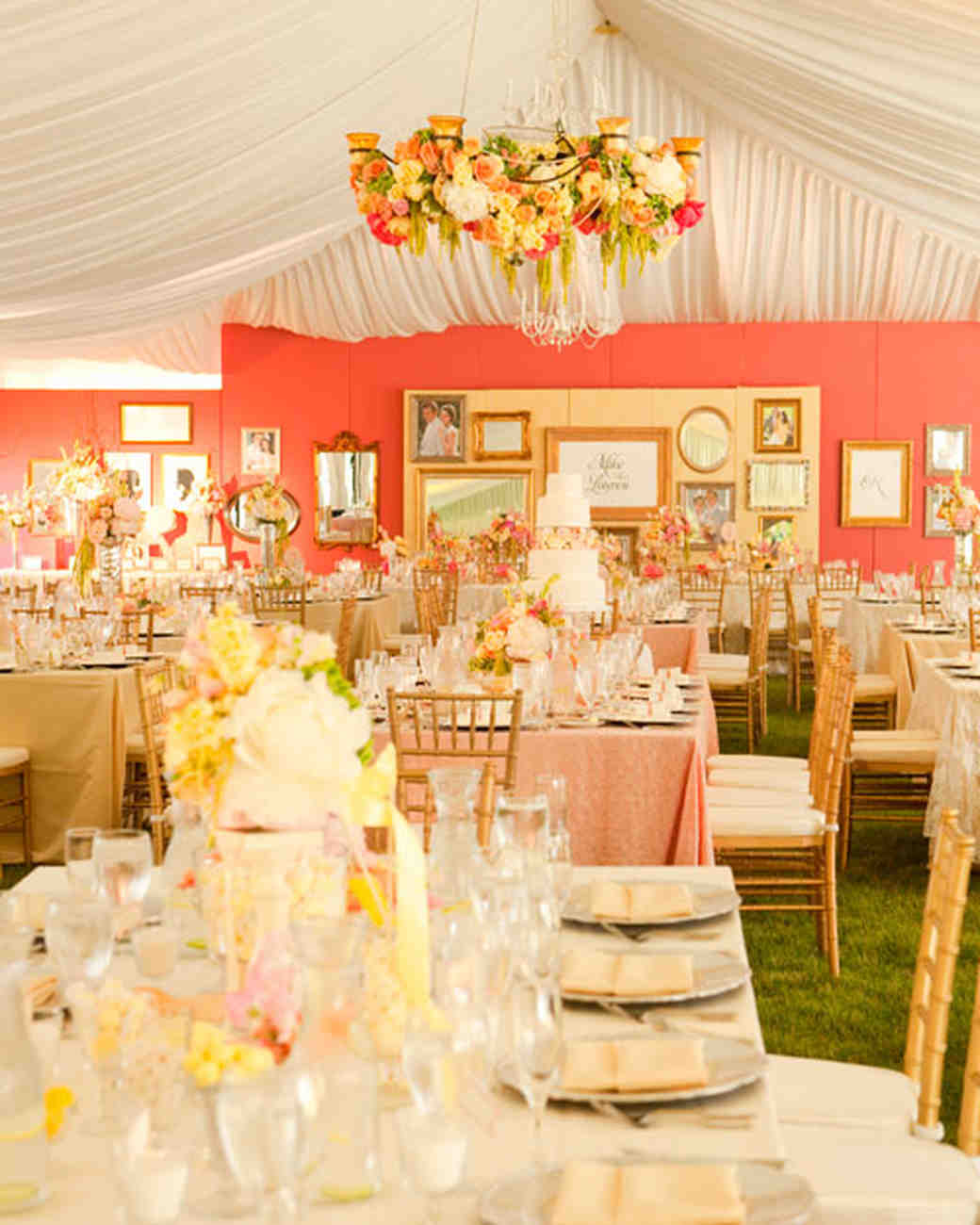 A Pink-and-Yellow Vintage-Inspired Wedding In Utah