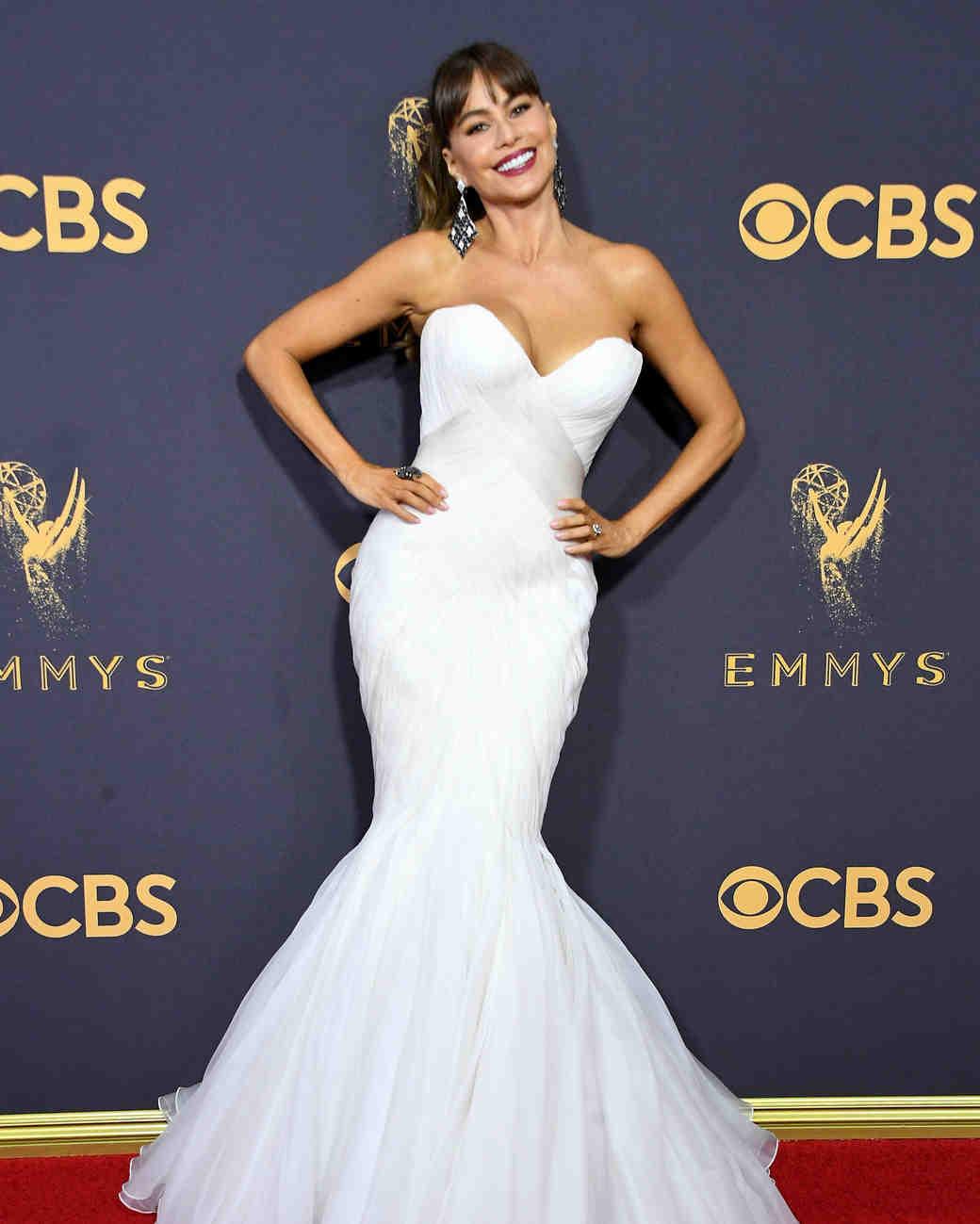 Sofia Vergara Emmys Red Carpet 2017