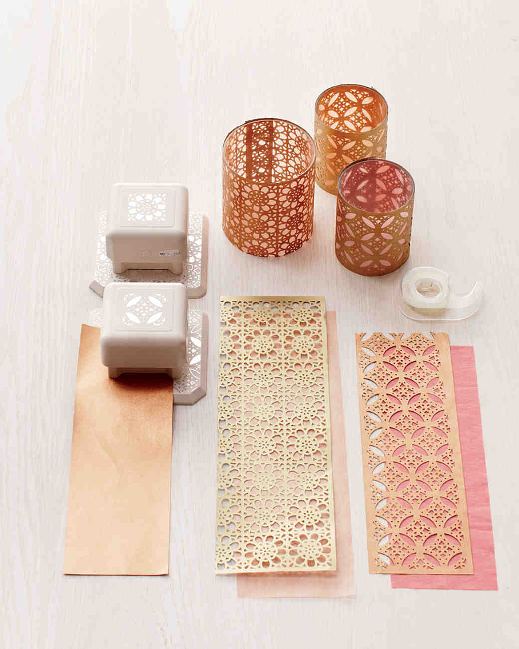 paper punch votive covers