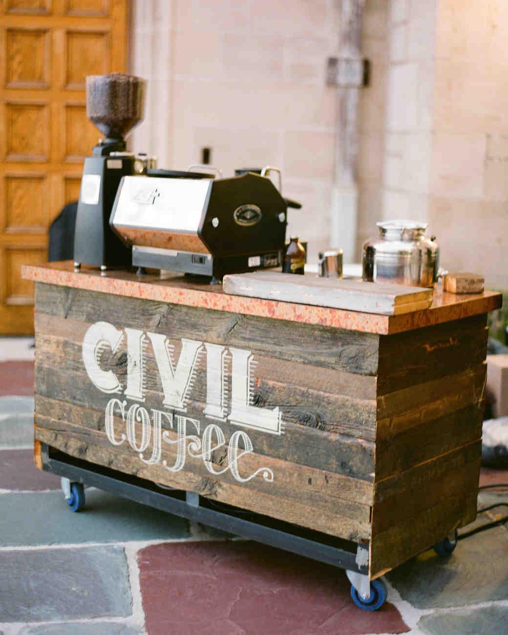 14 Creative Ways to Serve Coffee at Your Wedding | Martha ...