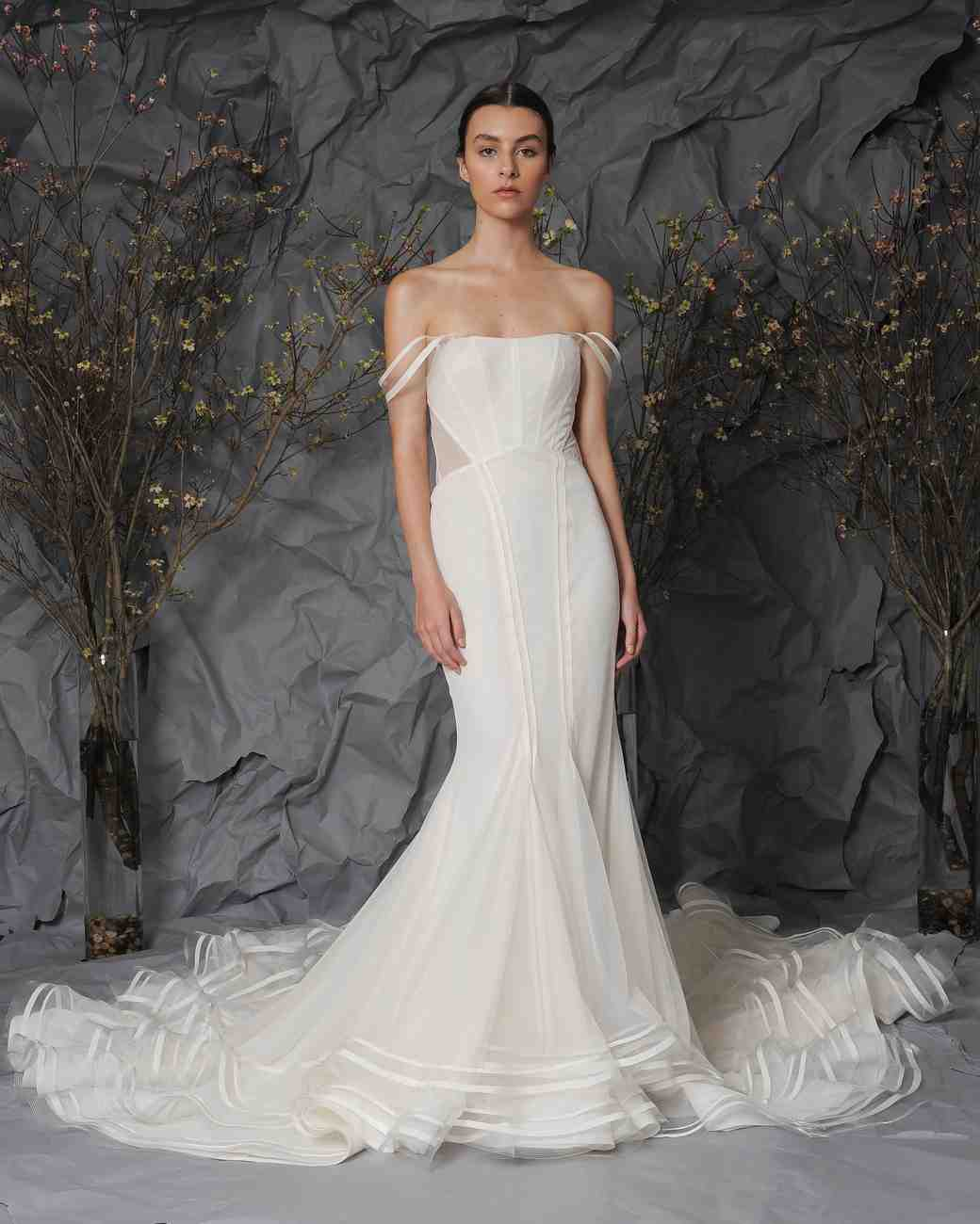 Austin Scarlett Off-The-Shoulder Wedding Dress