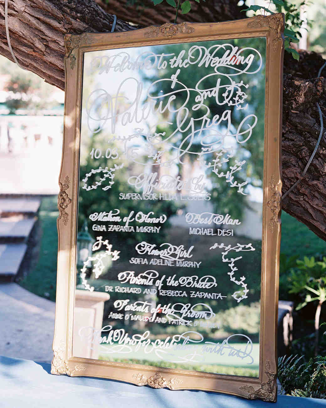 Ceremony Program Vintage Mirror