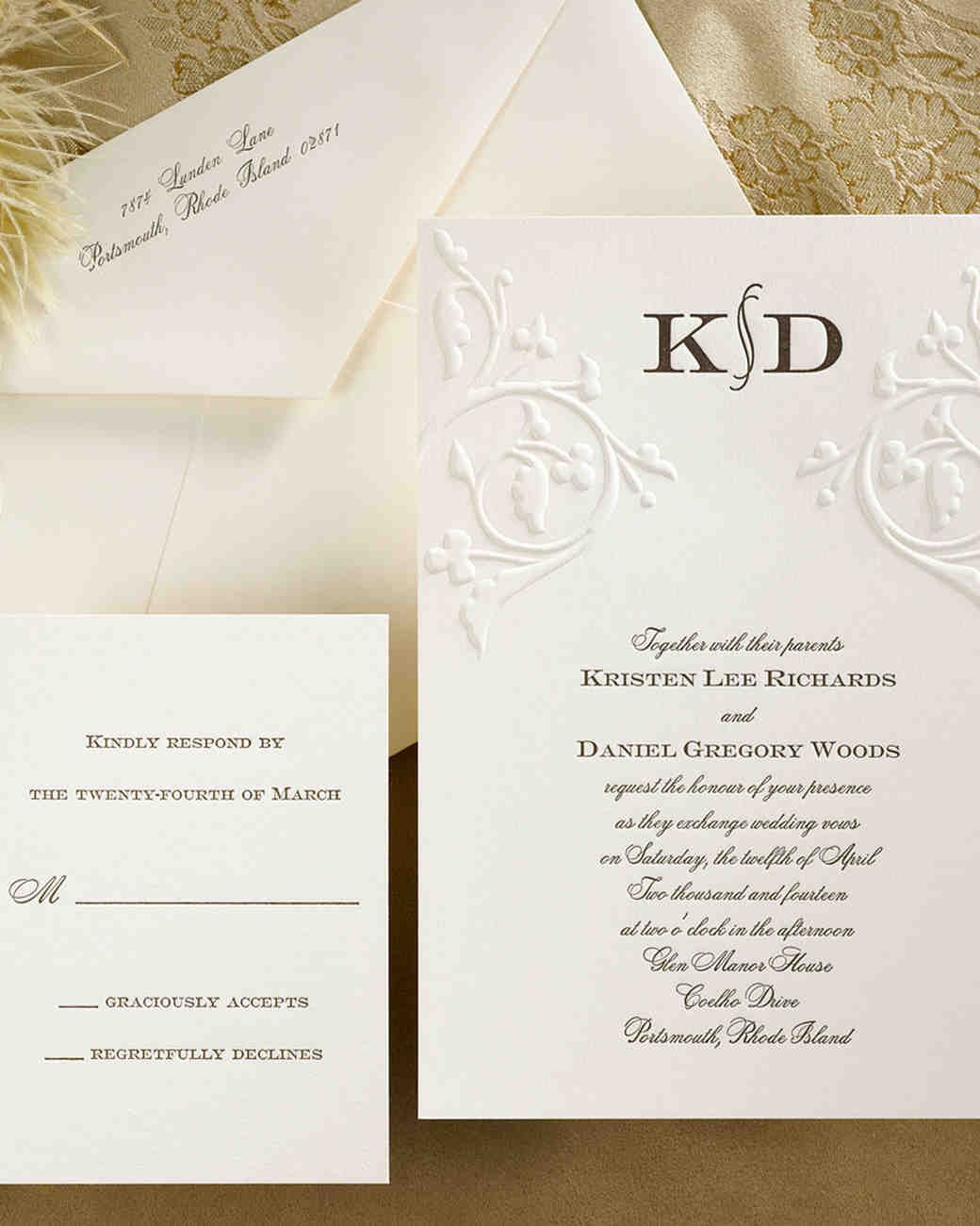 wedding invitations traditional embossed - 28 images - embossed ...