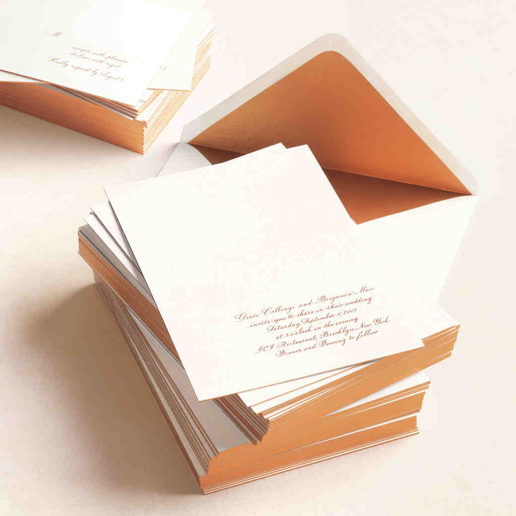 wedding invitations | martha stewart weddings, Wedding invitations