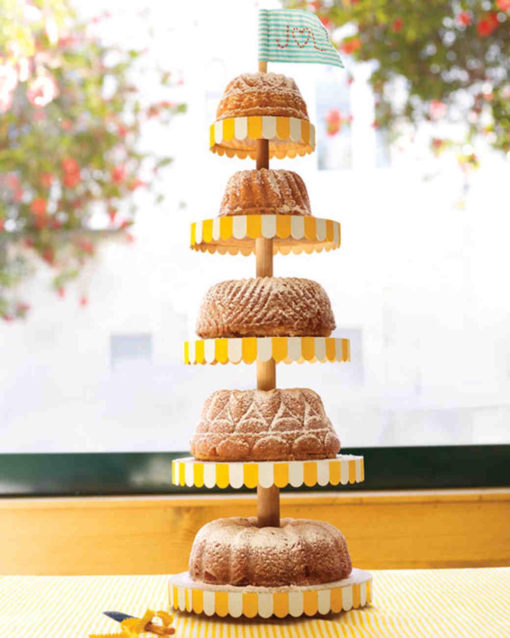 Rum Cake Tower