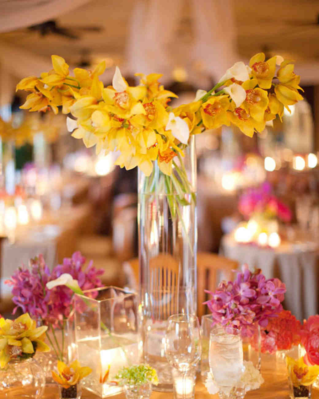 Black And Yellow Wedding Flowers: Yellow Wedding Centerpieces