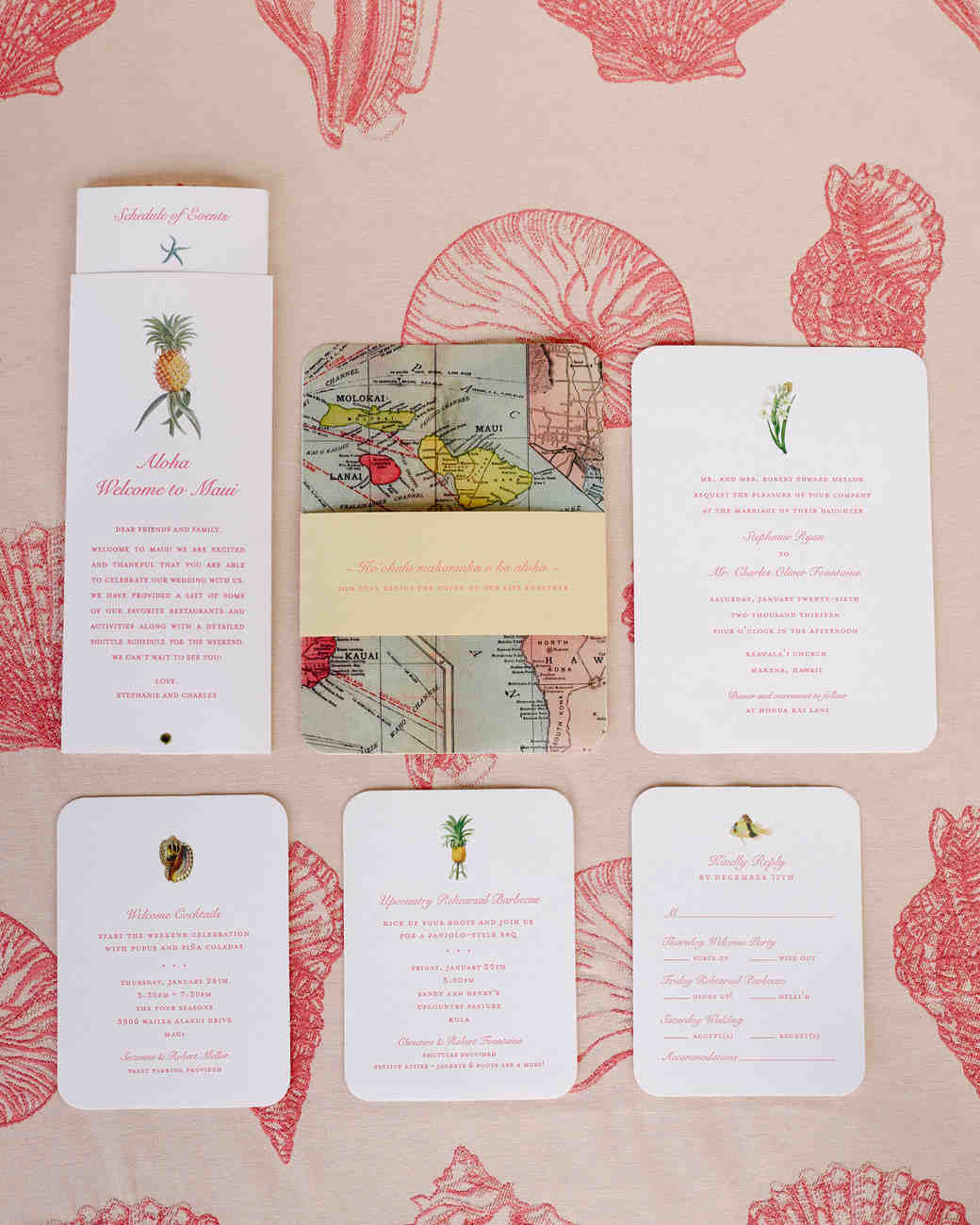 Hawaiian Invitation Suite with Map