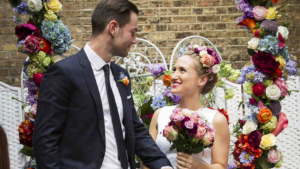 British designer Sophia Webster on her wedding day