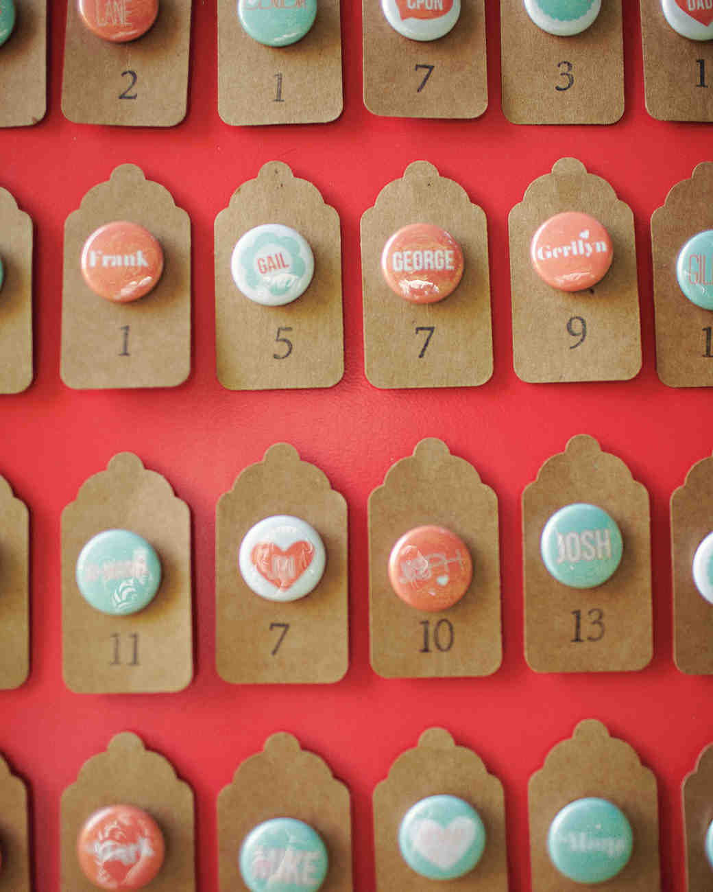 Button Escort Cards