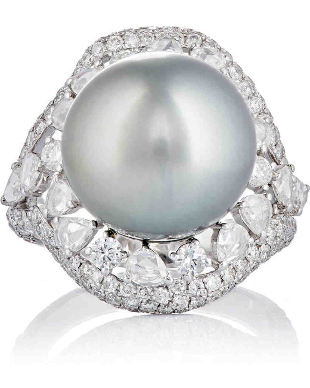 Zoe Pearl Engagement Ring