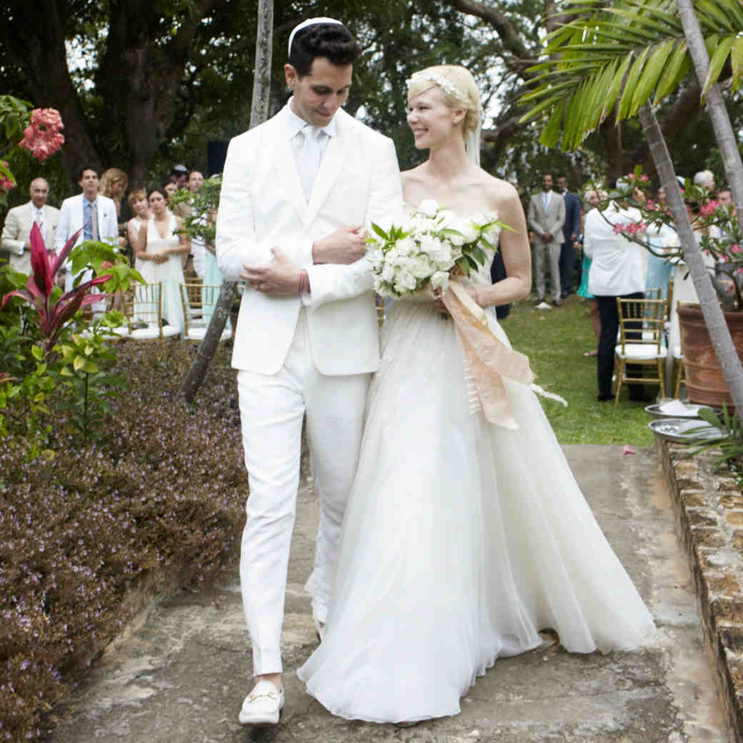 Erin Fetherston and Gabe Saporta's Romantic Pastel-Colored Vintage Destination Wedding in Barbados