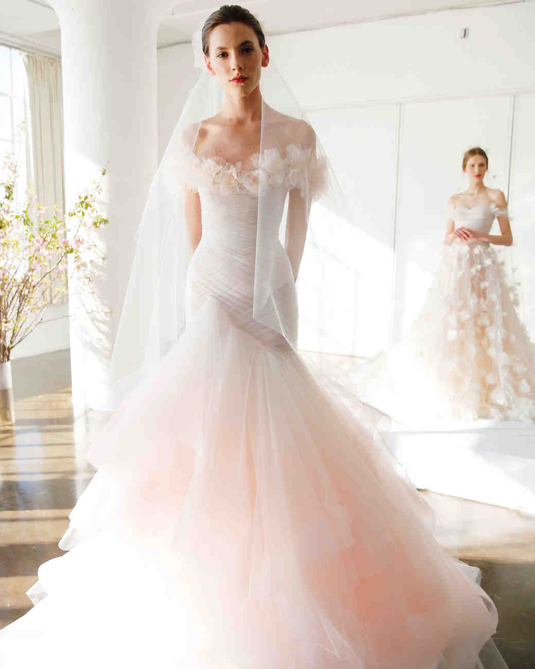 spring wedding dress trends marchesa wedding dresses The 9 Best Wedding Dress Trends from Bridal Fashion Week Martha Stewart Weddings