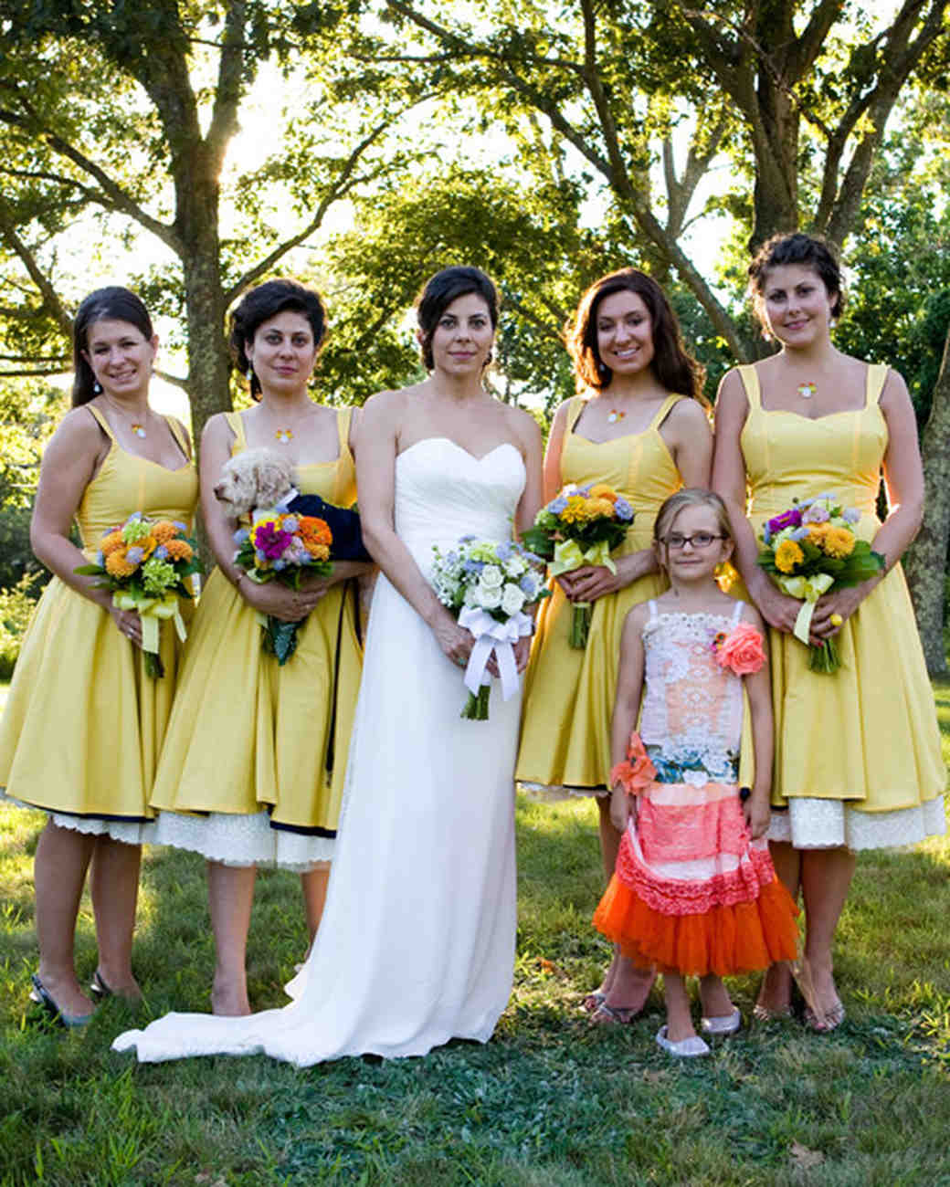 Bridesmaid dresses in ma vosoi a whimsical navy and yellow wedding in massachusetts martha ombrellifo Image collections