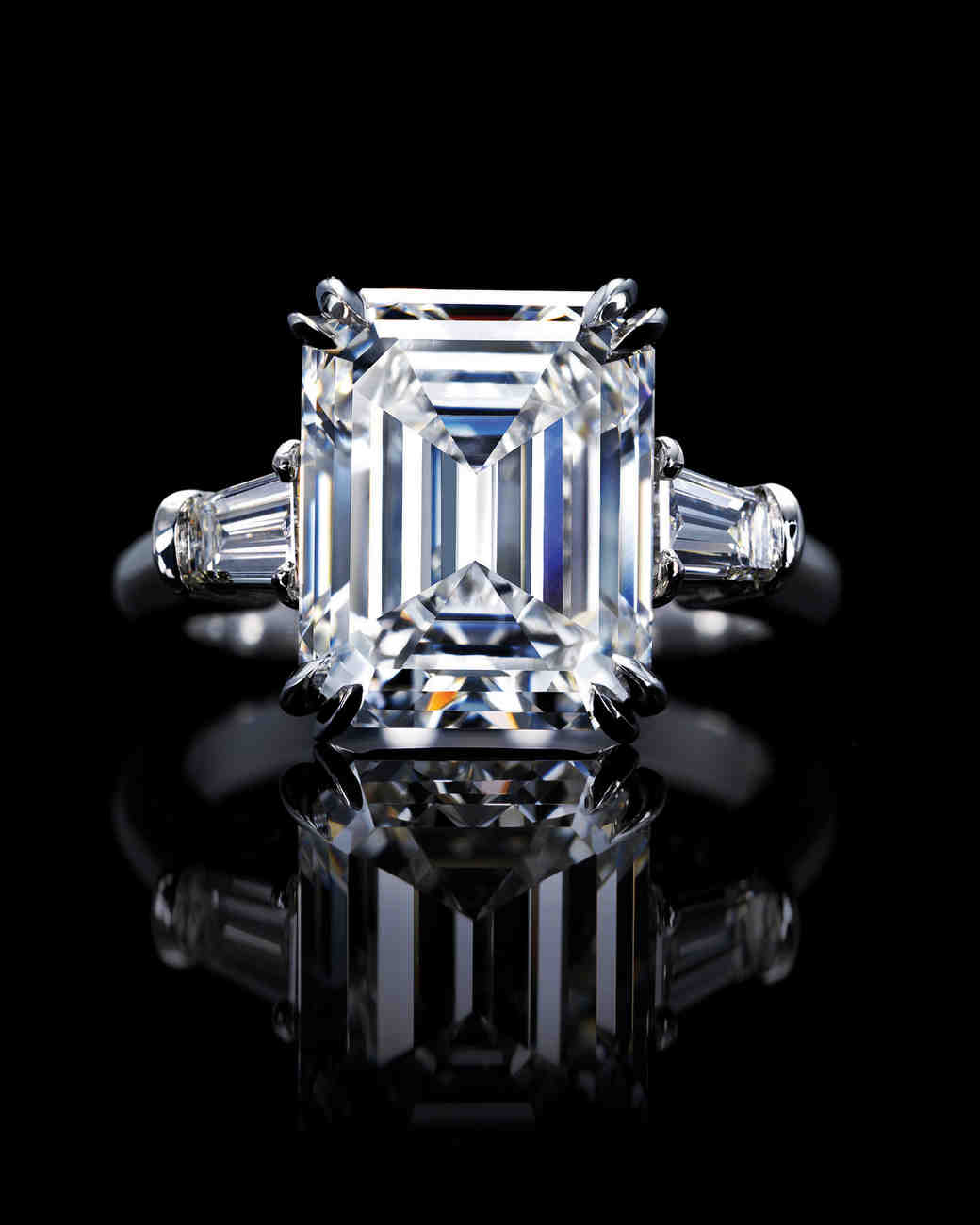 engagement rings all shapes and sizes harry winston wedding rings Diamond Engagement Rings in All Shapes and Sizes Martha Stewart Weddings