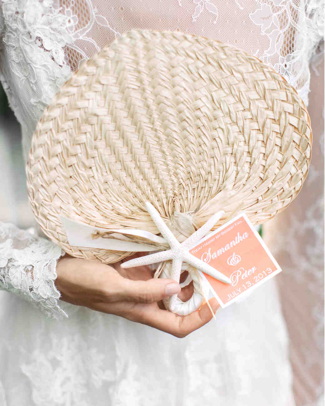 palm-leaf wedding fans