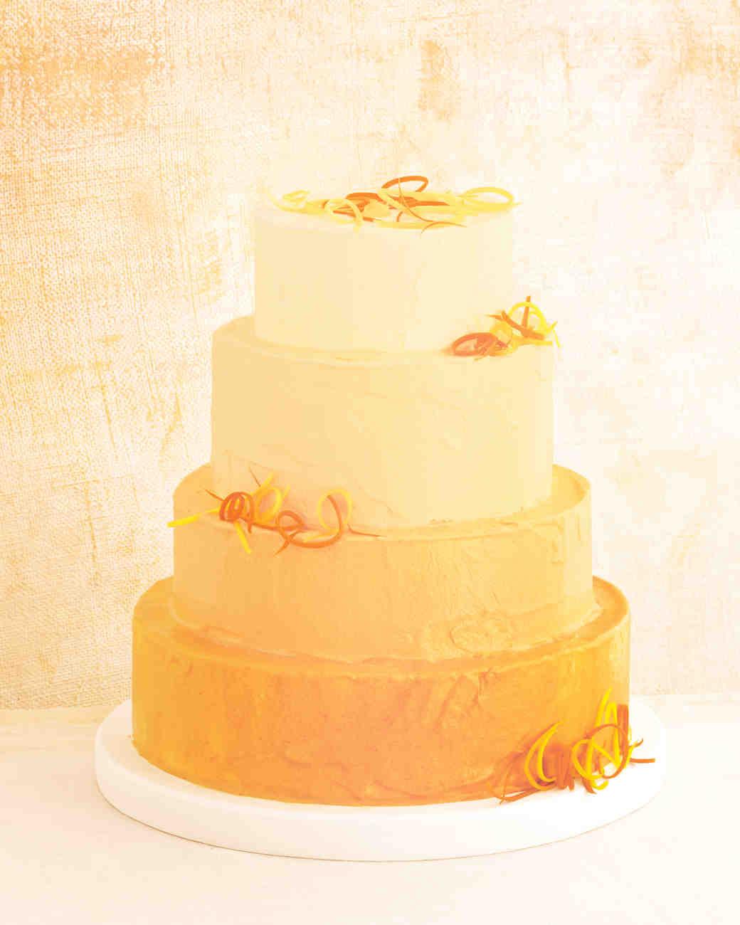 orange ombré carrot cake