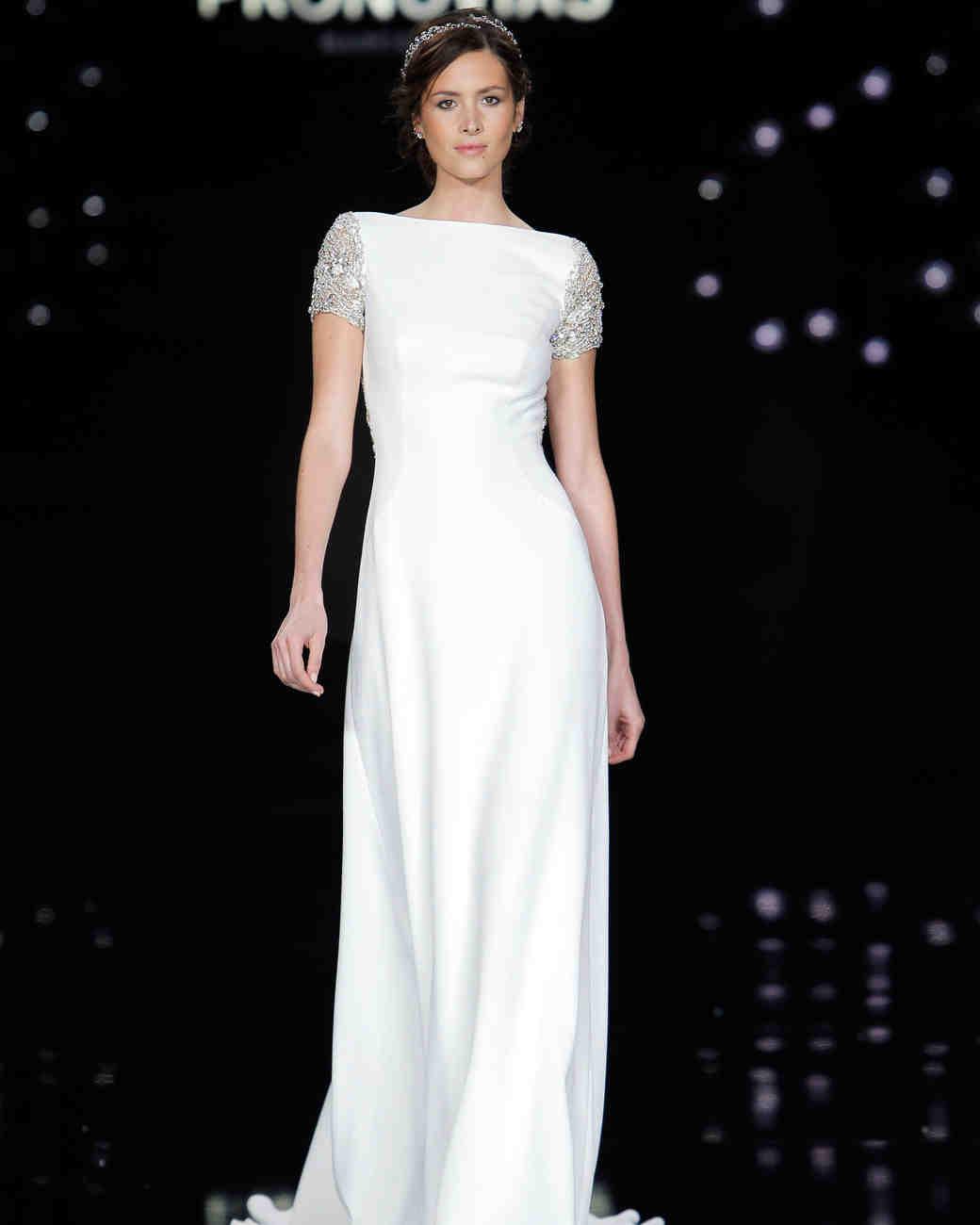 Pronovias Boatneck Wedding Dress