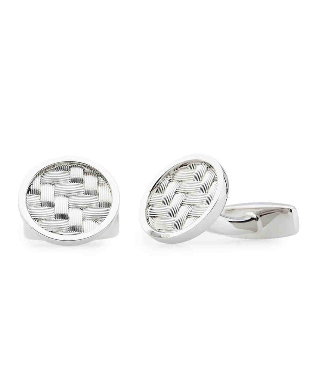 round cufflinks