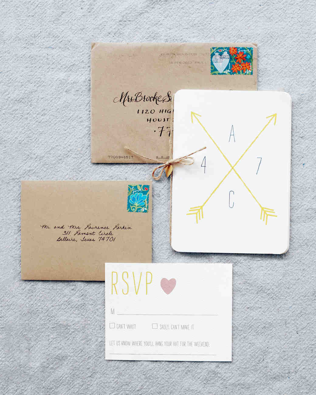 Crossed Arrows: The Symbol of Friendship Is Making Its Mark on Wedding Stationery