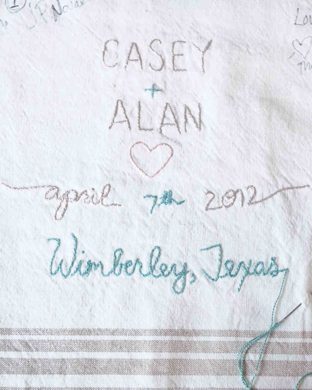 Tablecloth Guest Book