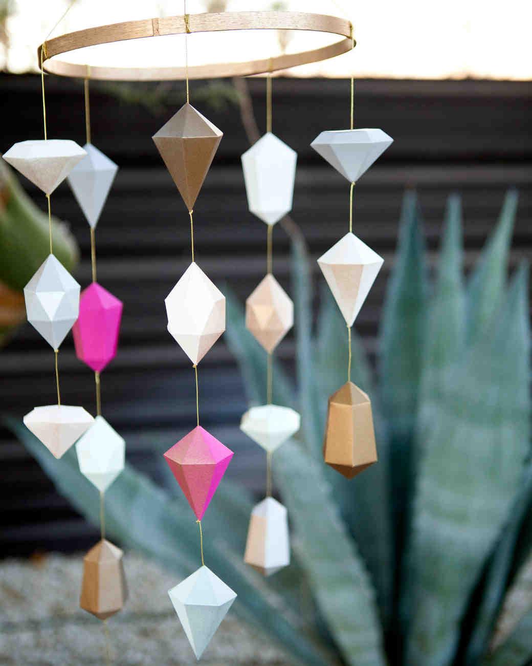 Paper Jewel Wedding Decorations