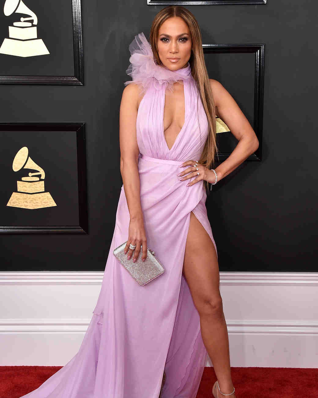 Jennifer Lopez at the 2017 Grammy Awards