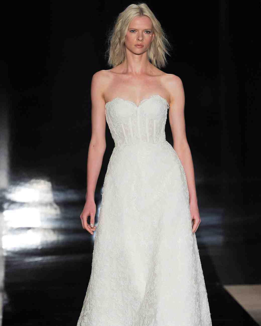 Reem Acra Simple Bustier Wedding Dress