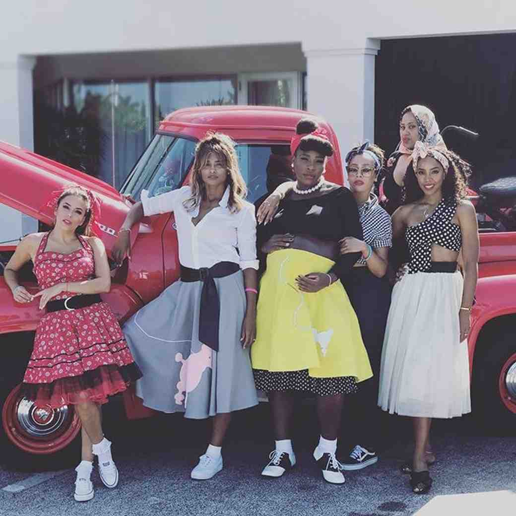 Serena Williams at baby shower