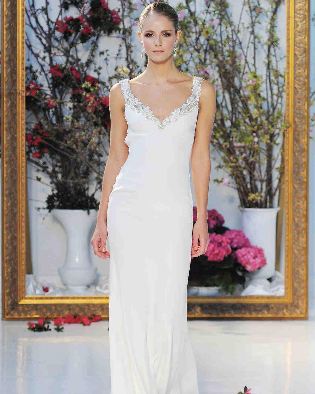 Anne Barge Simple Column Wedding Dress