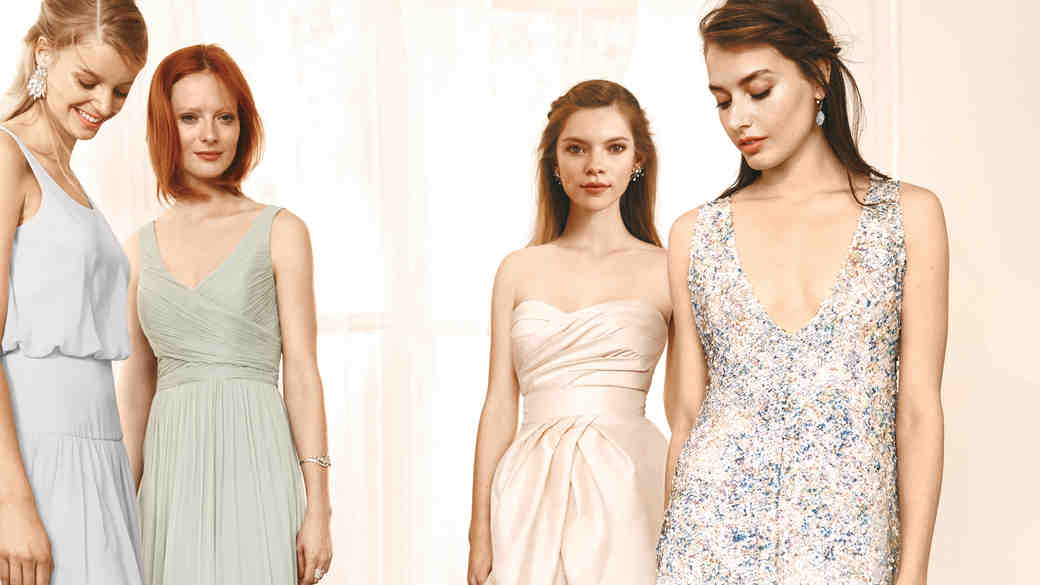 4 Chic Ways to Mix and Match Your Bridesmaid Dresses