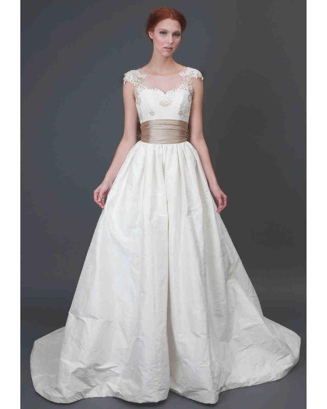 Heidi elnora fall 2013 collection martha stewart weddings for Busty brides wedding dresses