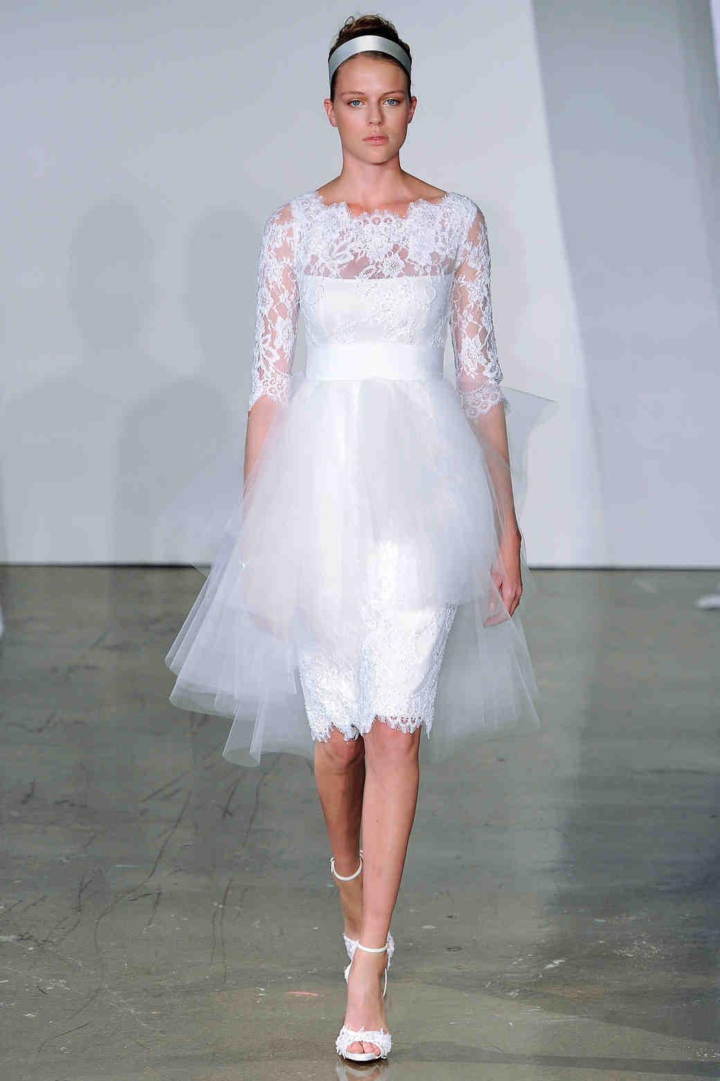 Three-Quarter Sleeve Wedding Dresses, Fall 2013 | Martha Stewart ...