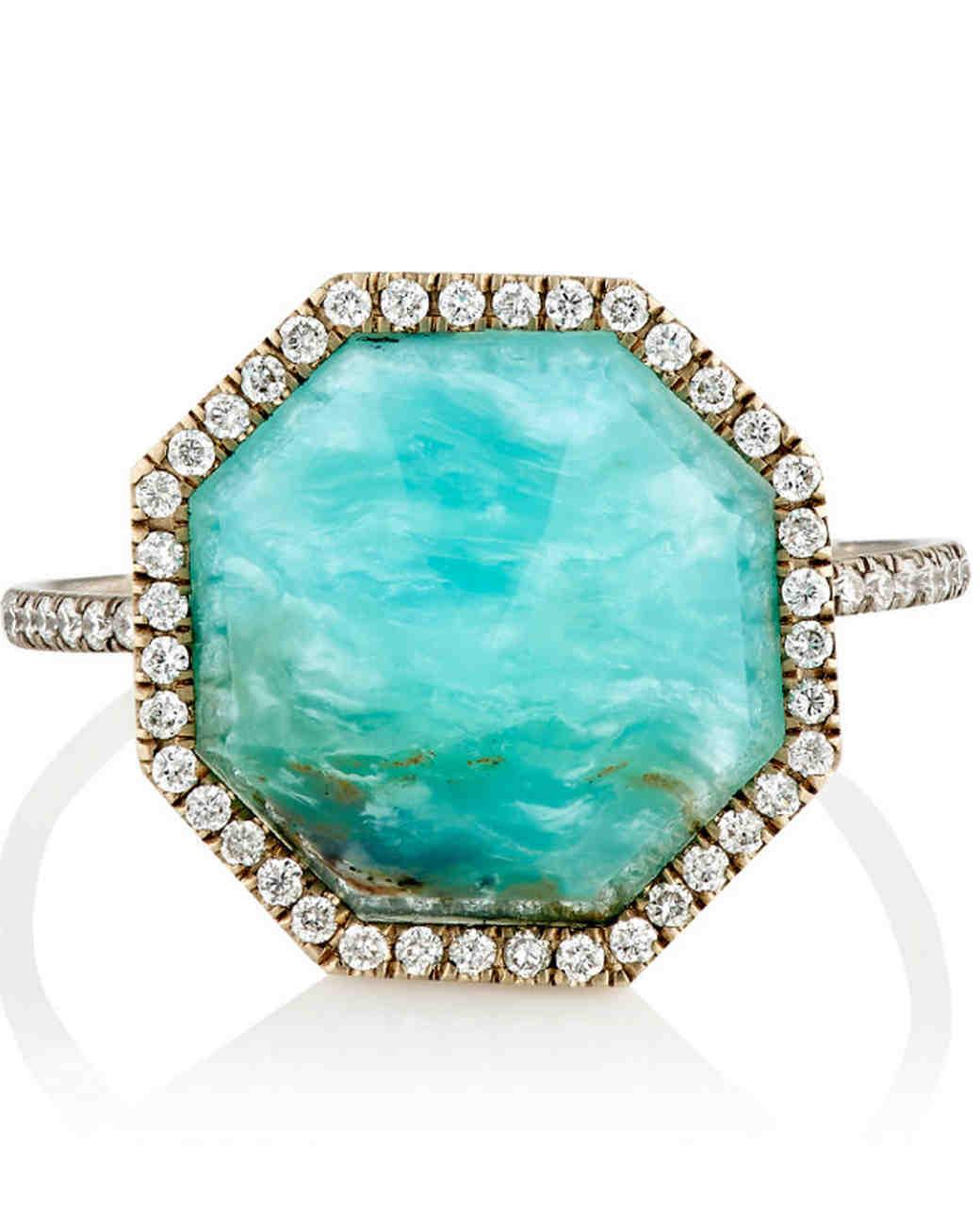 Monique Pean Opal Engagement Ring
